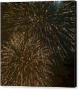 Fireworks 4 With Moon Canvas Print