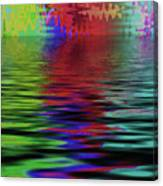 Fireworks Abstract Canvas Print