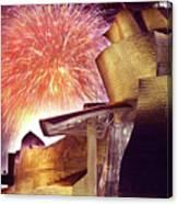 Fireworks At Guggenheim Canvas Print