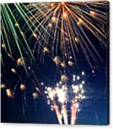 Fireworks At Maple Creek Canvas Print