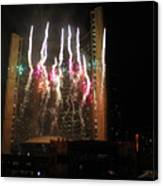 Fireworks At Toronto City Hall Canvas Print