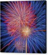 Fireworks Celebration Glow Square Canvas Print