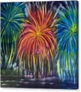 Fireworks Explode Canvas Print