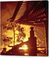 Fireworks, Japan Pavilion, Epcot, Walt Disney World Canvas Print