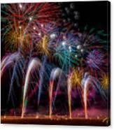 Fireworks Line Canvas Print