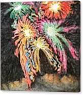 Fireworks Man Canvas Print