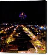 Fireworks Over Hudson Canvas Print