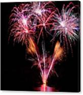Fireworks Over Lake #15 Canvas Print