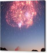 Fireworks Over Lincoln Canvas Print