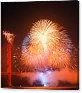 Fireworks Over The Golden Gate Bridge Canvas Print