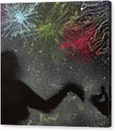 Fireworks Proposal Canvas Print