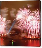Fireworks Red Canvas Print