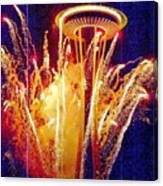 Fireworks Seattle Canvas Print