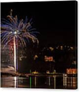 Fireworks Shaldon 2015 Canvas Print