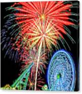 Fireworks-wildwood Nj Boardwalk Canvas Print
