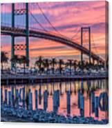 Firey Sunrise Vertical Waterfront Canvas Print
