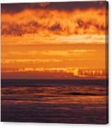 Firey Sunset Sky Canvas Print