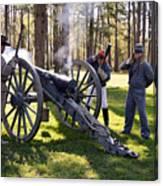 Firing The Cannon Canvas Print