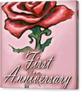 First Anniversary Canvas Print