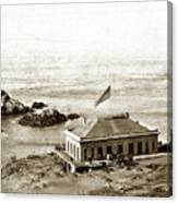First Cliff House  View Of Ropes From The Cliff House To Seal Rock Circa 1865 Canvas Print
