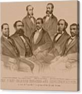 First Colored Senator And Representatives Canvas Print