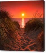 First Encouter Beach Sunset September 2017 Canvas Print