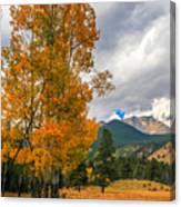 First Fall Colors In Rocky Mountain National Park Canvas Print