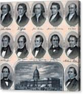 First Hundred Years Of American Presidents Canvas Print