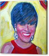 First Lady In Red Canvas Print