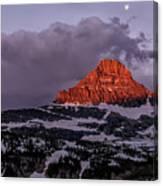 First Light At Logan Pass - Glacier National Park Canvas Print