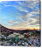 First Light In Valley Of Fire Canvas Print