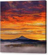 First Light On Mount Hood During Sunrise Canvas Print