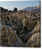 First Light Over Alabama Hills California Canvas Print