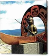 First Nation Sculpture Canvas Print