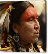 Pow Wow First Nations Man Portrait 1 Canvas Print