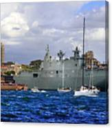 First Peak At Australia's Newest Warship Canvas Print