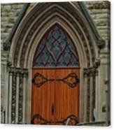 First Presbyterian Church Door Canvas Print