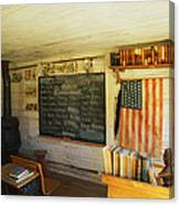 First School In Montana Canvas Print