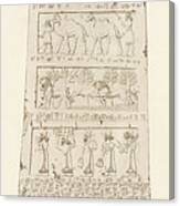 First Side Of Obelisk, Illustration From Monuments Of Nineveh Canvas Print