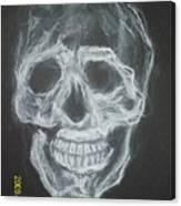 First Skull Work Canvas Print