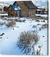 First Snow  Bodie Canvas Print