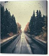 First Snow Fall Canvas Print