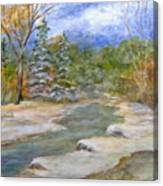 First Snow Of Winter Canvas Print
