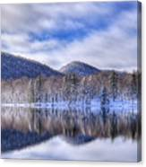 First Snow On West Lake Canvas Print