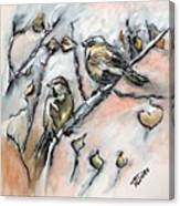 First Sure Sign Of Spring Canvas Print