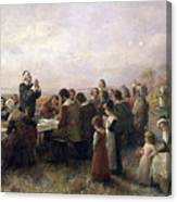First Thanksgiving Vintage Painting Canvas Print