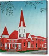 First United Methodist Church  Terrell Tx Canvas Print