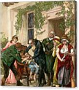 First Vaccination, 1796 Canvas Print