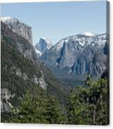 First View Of Yosemite Valley Canvas Print