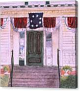 First White House Of The Confederacy Canvas Print
